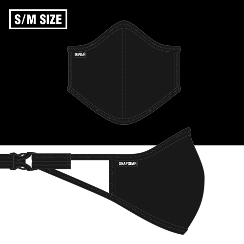 【NEW】SNAPGEAR フィルターポケット付きマスク ブラックS/Mサイズ
