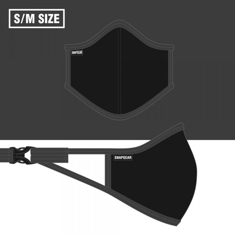 【NEW】SNAPGEAR フィルターポケット付きマスク グレーS/Mサイズ